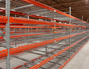 Wide Span Shelving with Mess Decks