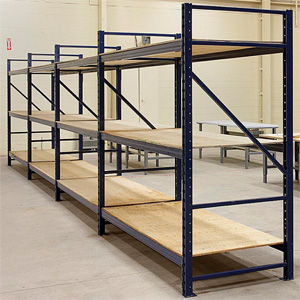 Wide Span Shelving with Wood Decks