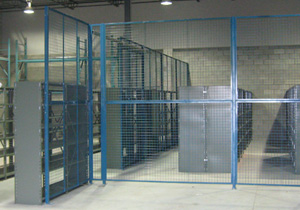 Wide Span Shelving with Galvanised Drop-in Panels